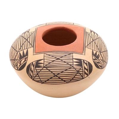 Miriam Nampeyo Hopi / Tewa Polychrome Earthenware Seed Jar