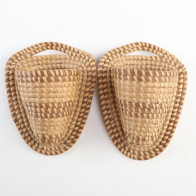 Coushatta Twined Woven Wall Pockets, 20th Century