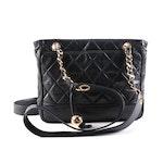 Chanel Quilted Dark Navy Leather Shoulder Bag