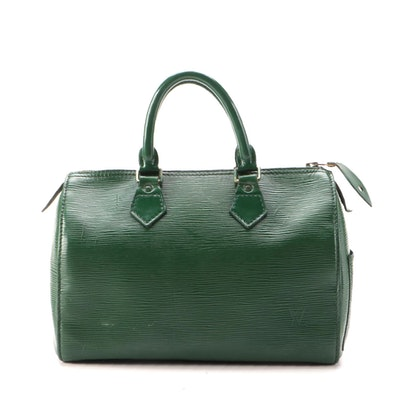 Louis Vuitton Speedy 25 in Borneo Green Epi Leather