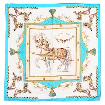 "Hermès for Lord & Taylor ""Harnais Français Premier Empire"" Silk Twill Scarf"