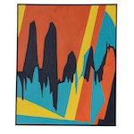 "Lilian Kaitsa Abstract Oil Painting ""Voices - 12:07,"" 1979"