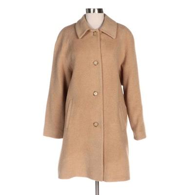 Larry Levine Design Italian Camel Hair Wool Belted Coat