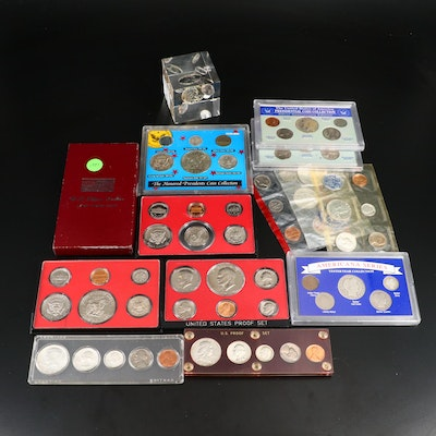U.S. Mint Proof and Other Coin Sets, Including Silver