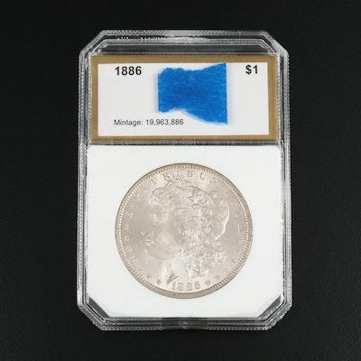 Uncirculated 1886 Morgan Silver Dollar