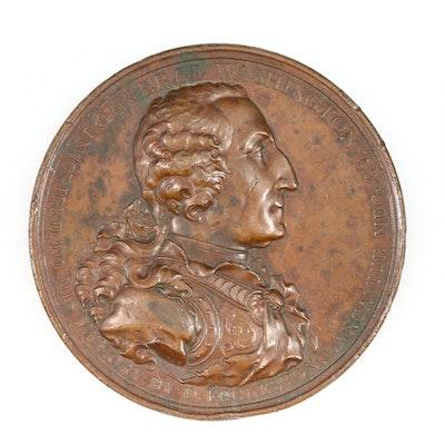 1805 George Washington Bronze Medal by Daniel Eccleston of Lancaster