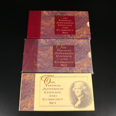 Three Thomas Jefferson Coinage and Currency Sets
