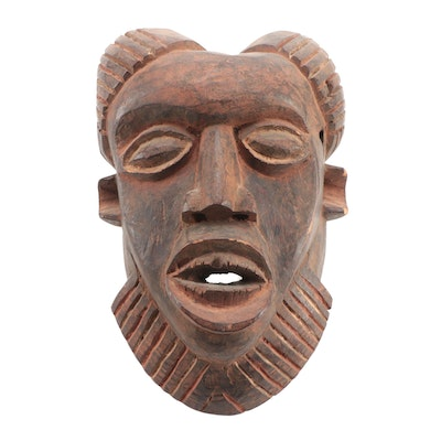 Bamun Style Hand-Carved Wooden Mask, Cameroon