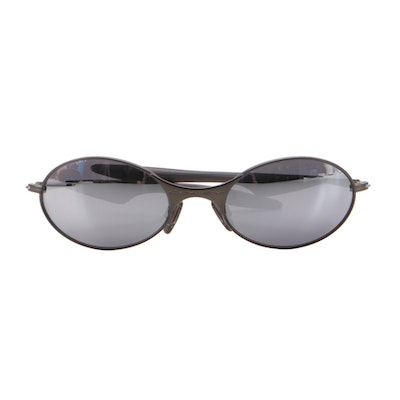 Oakley E-Wire Oval Sunglasses with Dust Pouch