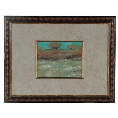 "Robert Riddle-Baker Acrylic Painting ""Certain Storm,"" 2021"