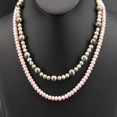 Pearl Necklaces with 14K and 10K Clasps