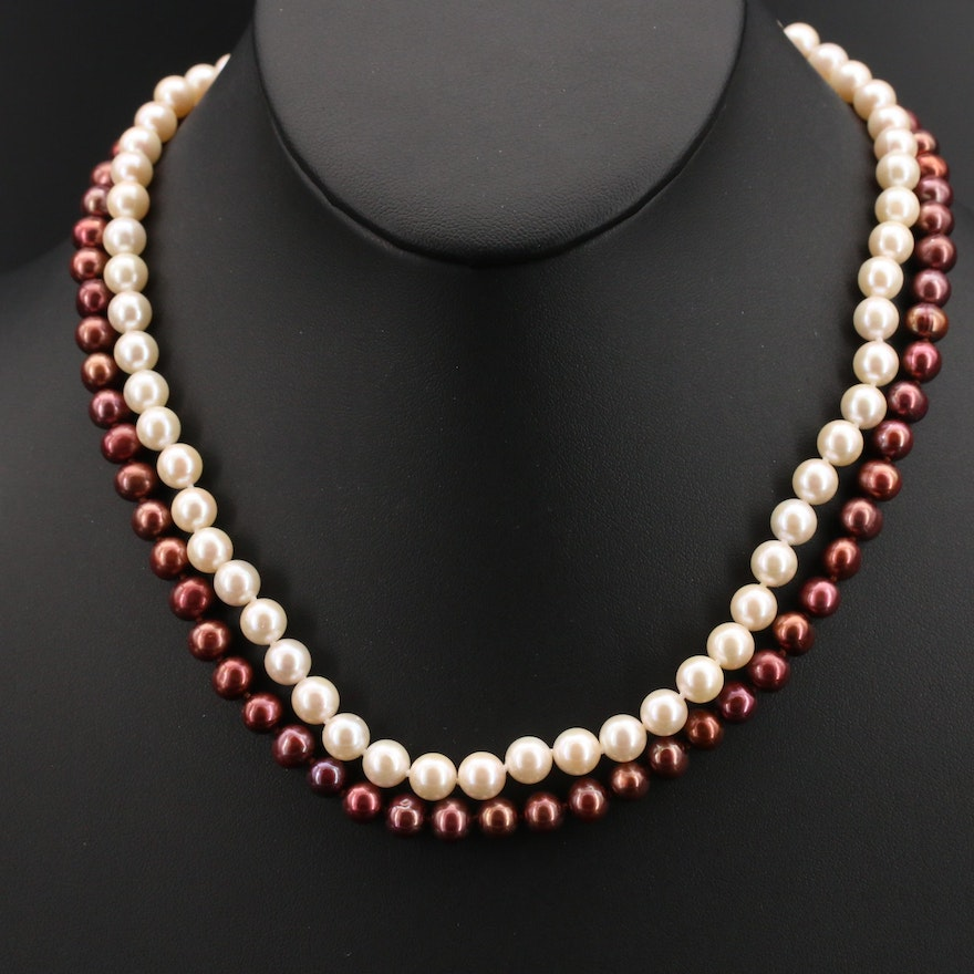 Pearl Necklaces with 14K Clasps