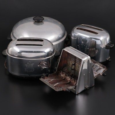 """Sears Best """"Maid of Honor"""" Cast Aluminum Stock Pot with Westinghouse Toasters"""