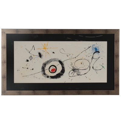 """Joan Miró Lithograph """"La Traversée du Miroir"""" for """"Derrière le Miroir,"""" 1963"""