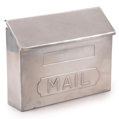 Horizontal Wall-Mount Stainless Steel Mailbox