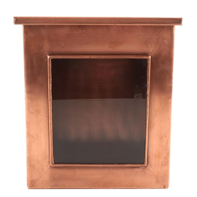 Vertical Wall-Mounted Copper Mailbox with Window