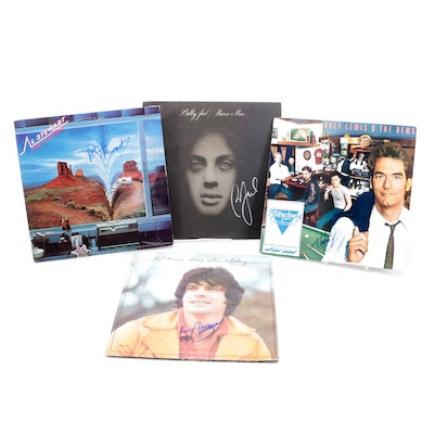 Billy Joel, Al Stewart, Huey Lewis and Other Autographed Vinyl Records with COAs