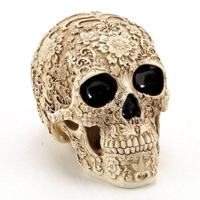 Artist Signed Limited Edition Resin Calavera Skull, Contemporary