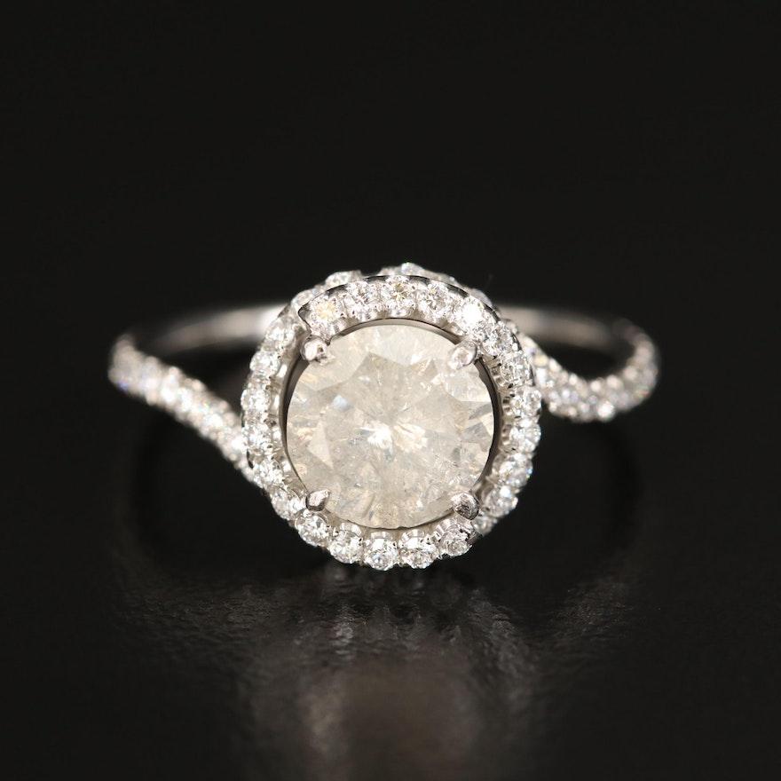 Danhov Abbraccio Platinum 1.95 CTW Diamond Swirl Ring