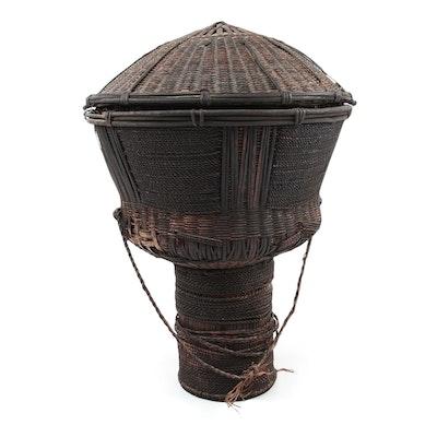 Wum Woven Pedestal Basket, Cameroon