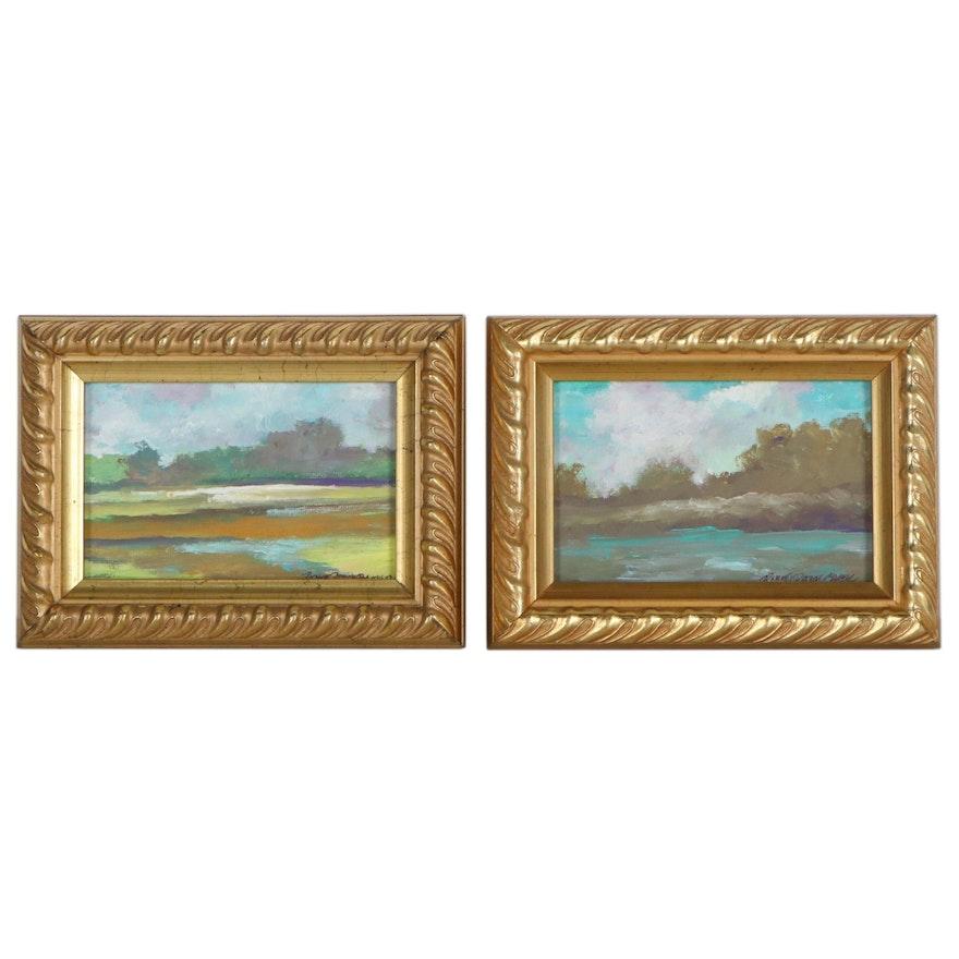Robert Riddle-Baker Landscape Acrylic Paintings, 21st Century