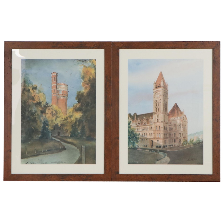 Tom Gaither Offset Lithographs of Cincinnati Architecture, Late 20th Century