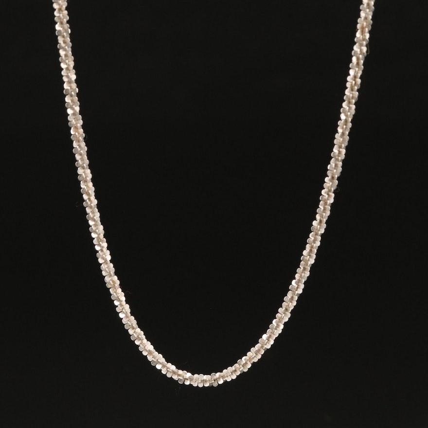 Italian 14K Sparkle Chain Necklace