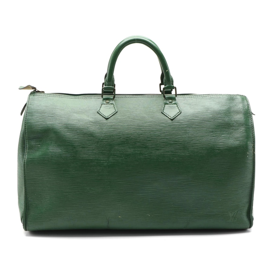 Louis Vuitton Speedy 40 in Borneo Green Epi Leather