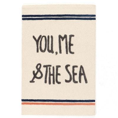 "4' x 6' Hand-Tufted Ahoy Trader by Jai Vasicek ""Sea Ballad"" Area Rug"