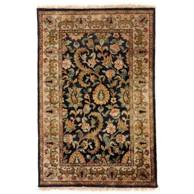 4' x 6'3 Hand-Knotted Indian Agra Floral Area Rug