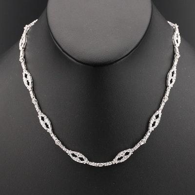 18K 2.82 CTW Diamond Link Necklace