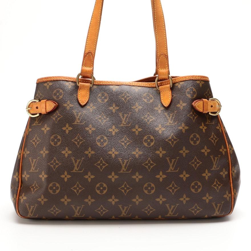 Louis Vuitton Batignolles Horizontal Bag in Monogram Canvas and Vachetta Leather