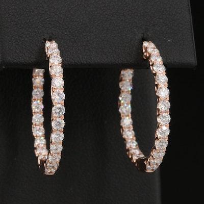 14K 1.76 CTW Diamond Inside-Out Hoop Earrings