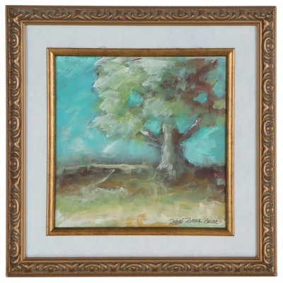 """Robert Riddle Baker Acrylic Painting """"Spring Tree"""""""