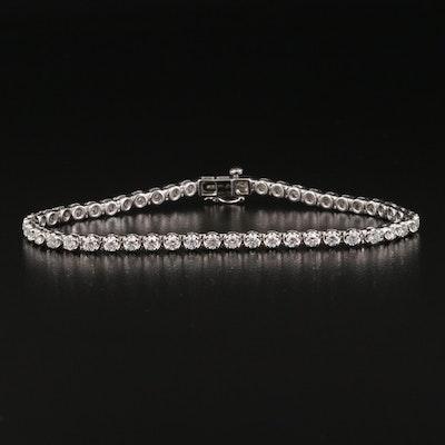 14K 2.50 CTW Diamond Line Bracelet