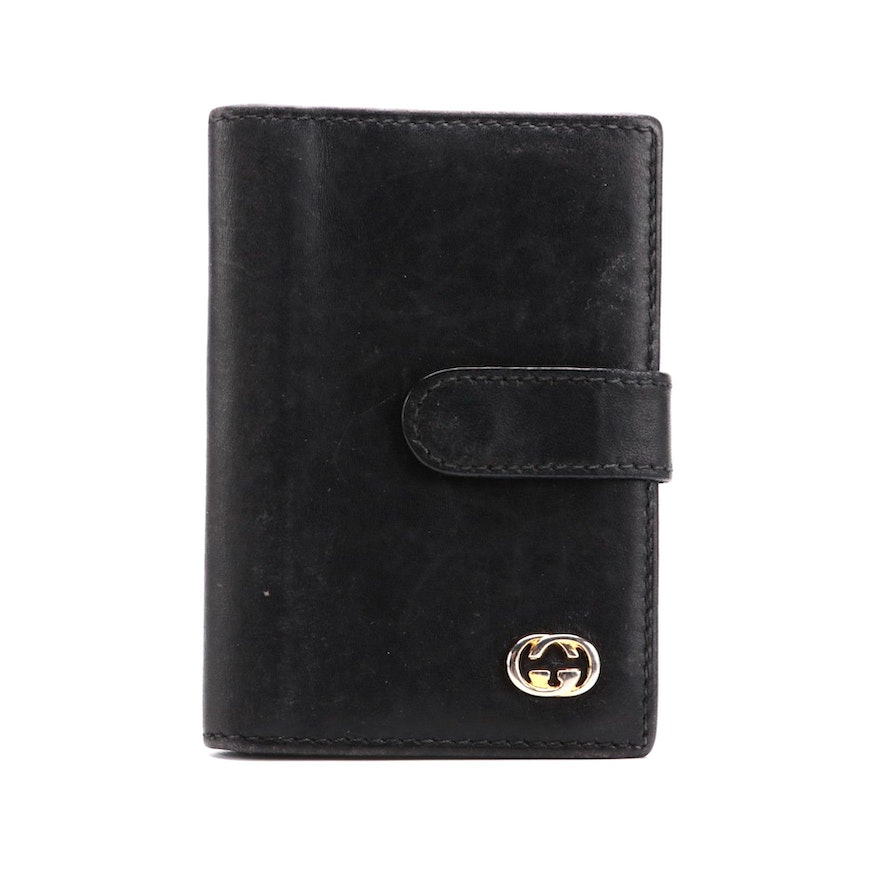 Gucci Bifold Card Holder in Black Leather