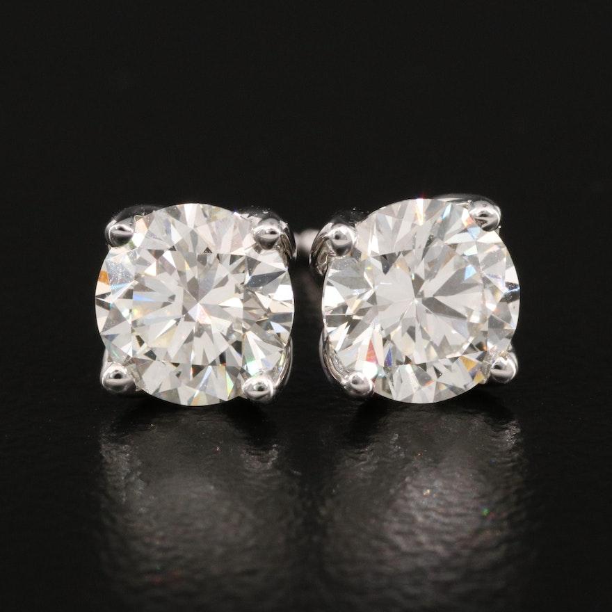 14K 2.05 CTW Diamond Stud Earrings