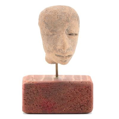 Teotihuacan Portrait Type Ceramic Head Fragment, Pre-Columbian Mexico
