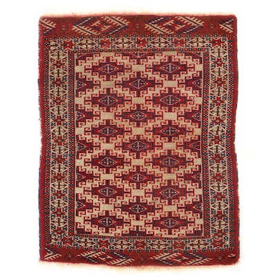 3'3 x 4'5 Hand-Knotted Afghan Turkmen Accent Rug