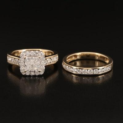 14K 1.88 CTW Diamond Ring and Band Set