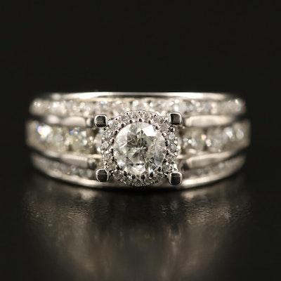 14K 1.98 CTW Diamond Multi-Channel Ring