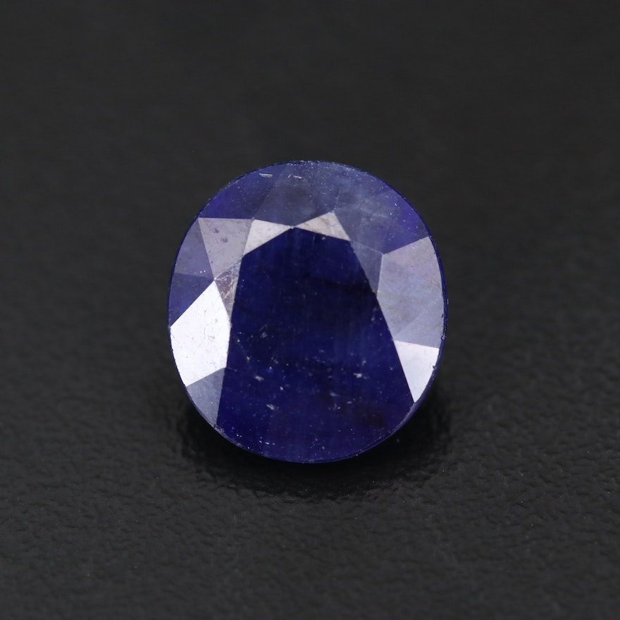 Loose 8.50 CT Oval Faceted Sapphire