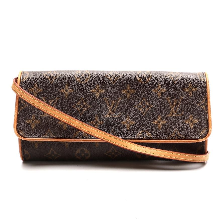 Louis Vuitton Pochette Twin Shoulder Bag in Monogram Canvas
