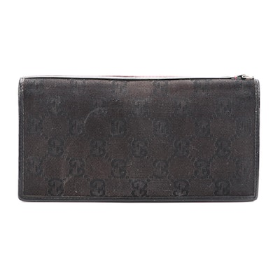 Gucci GG Canvas and Leather Wallet