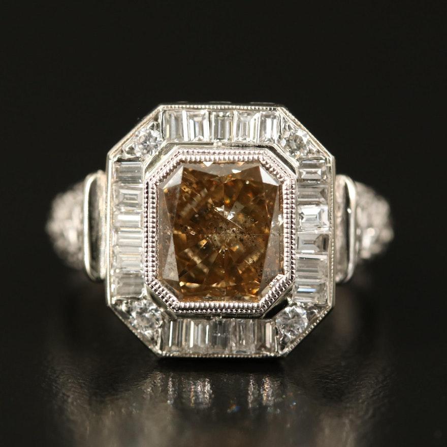 14K 4.28 CTW Diamond Ring with GIA Report