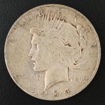 Key Date 1934-S Peace Silver Dollar
