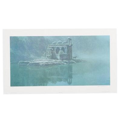 "Robert Bateman Offset Lithograph ""Hindu Temple - Tiger,"" 2000"