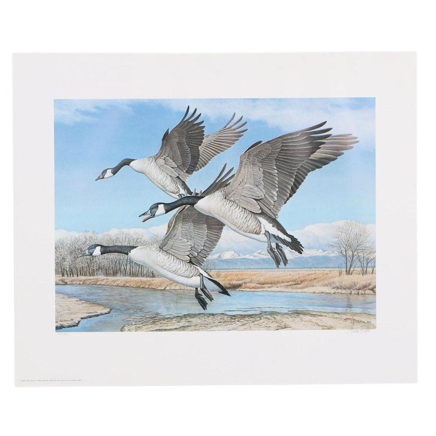 "Tom Hirata Offset Lithograph ""Colorado Canada Geese"""