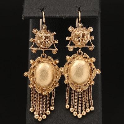 Vintage 14K Tassel Earrings