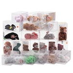 """Ty """"Splash"""", """"Nip"""", """"Happy"""" and Other Beanie Babies in Cases"""